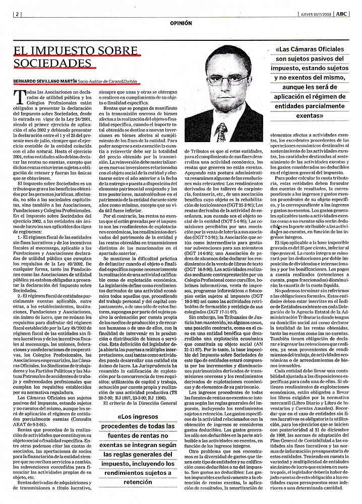 colegios profesionales e impuesto sociedades