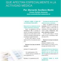 La actividad médica y el RD-L 20/2012